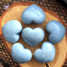 Angelite Gemstone Crystal Heart